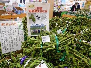 ●枝豆と案内板.JPG